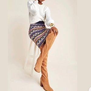 Saoirse  Geometric Sweater Midi Skirt